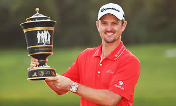 Justin Rose Defending World Golf Champion - HSBC